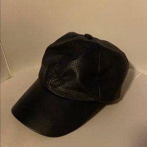 Zara faux leather cap